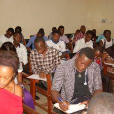 Les étudiants au cours